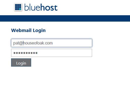 BlueHost Webmail