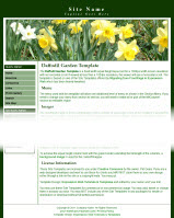 Screenshot Daffodil Garden Site Template.