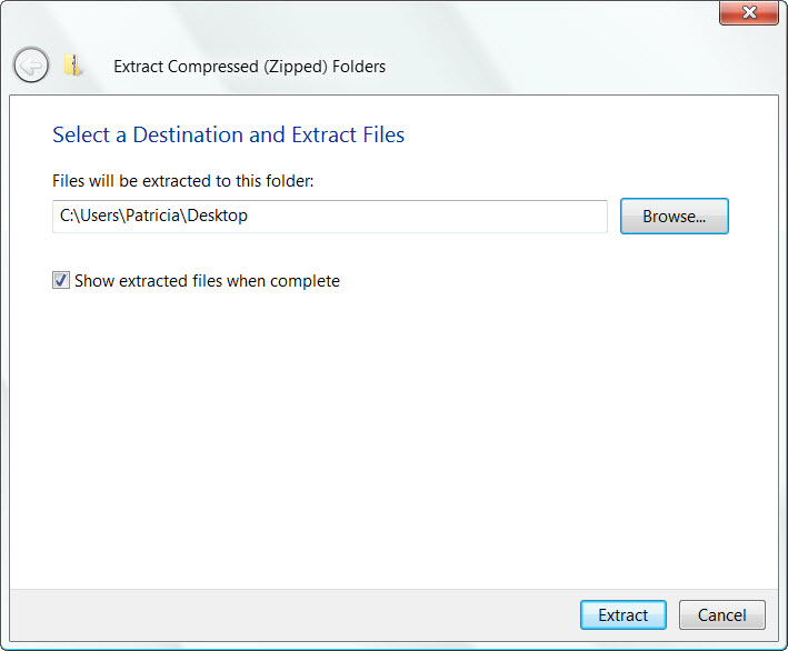file extractor for windows xp