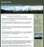 Majestic Mountains Site Template Package
