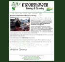 Screenshot of Moonflower Baking & Catering Website.