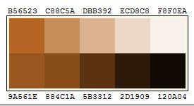 Screenshot Of Brown Color Pallette